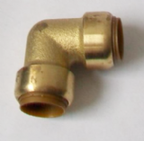 Brass Push Fit 90 Degree Elbow Bend 22mm - 27122200